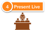 Content Marketing With PowerPoint - Step 4 - Present Live